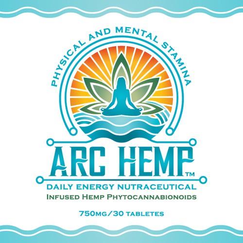 ARC HEMP dietary supplement label