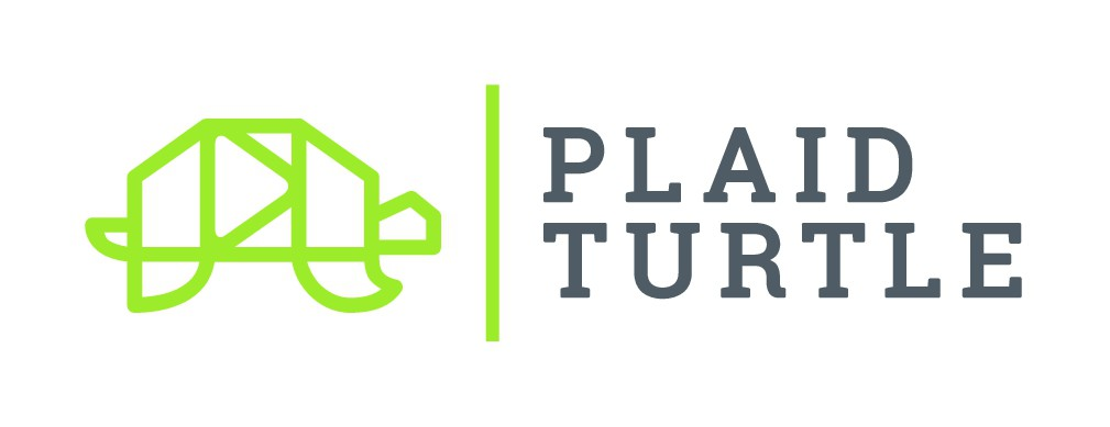 Looking for a memorable iconic logo for a cinematic-driven virtual event production co: Plaid Turtle