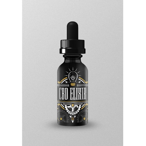 CBD logo for my steampunk/industrial Vape Store