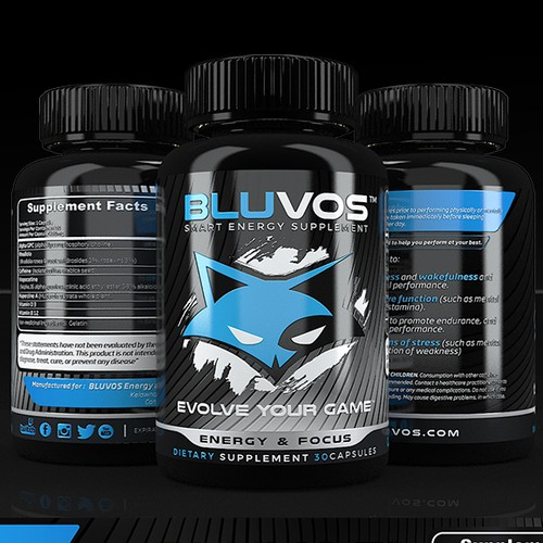 bluvos supplement label design