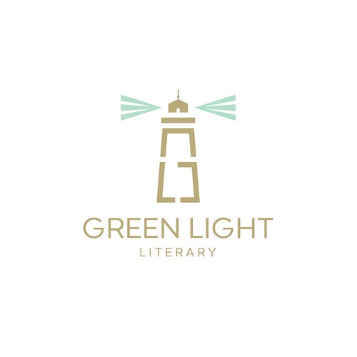 Winning design for Green Light Literary logo contest.