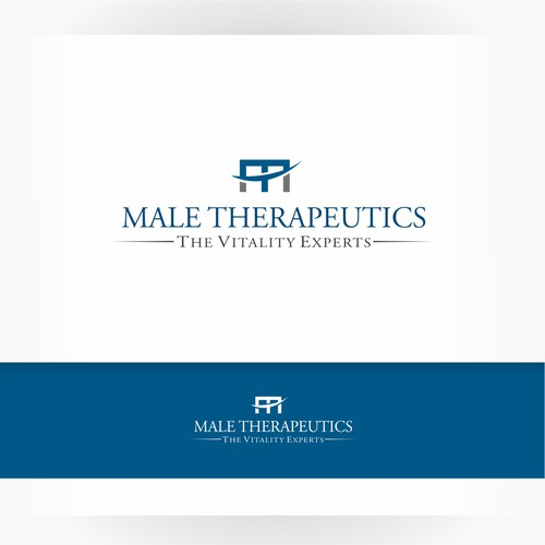 Male Therapeutics logo design.
