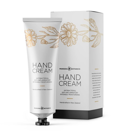 Hand cream packaging