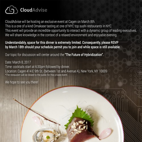 Invitation for an exclusive event