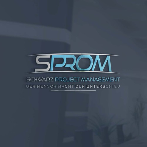 "a minimalistand modern logo for SPROM focus on ""SPROM"""