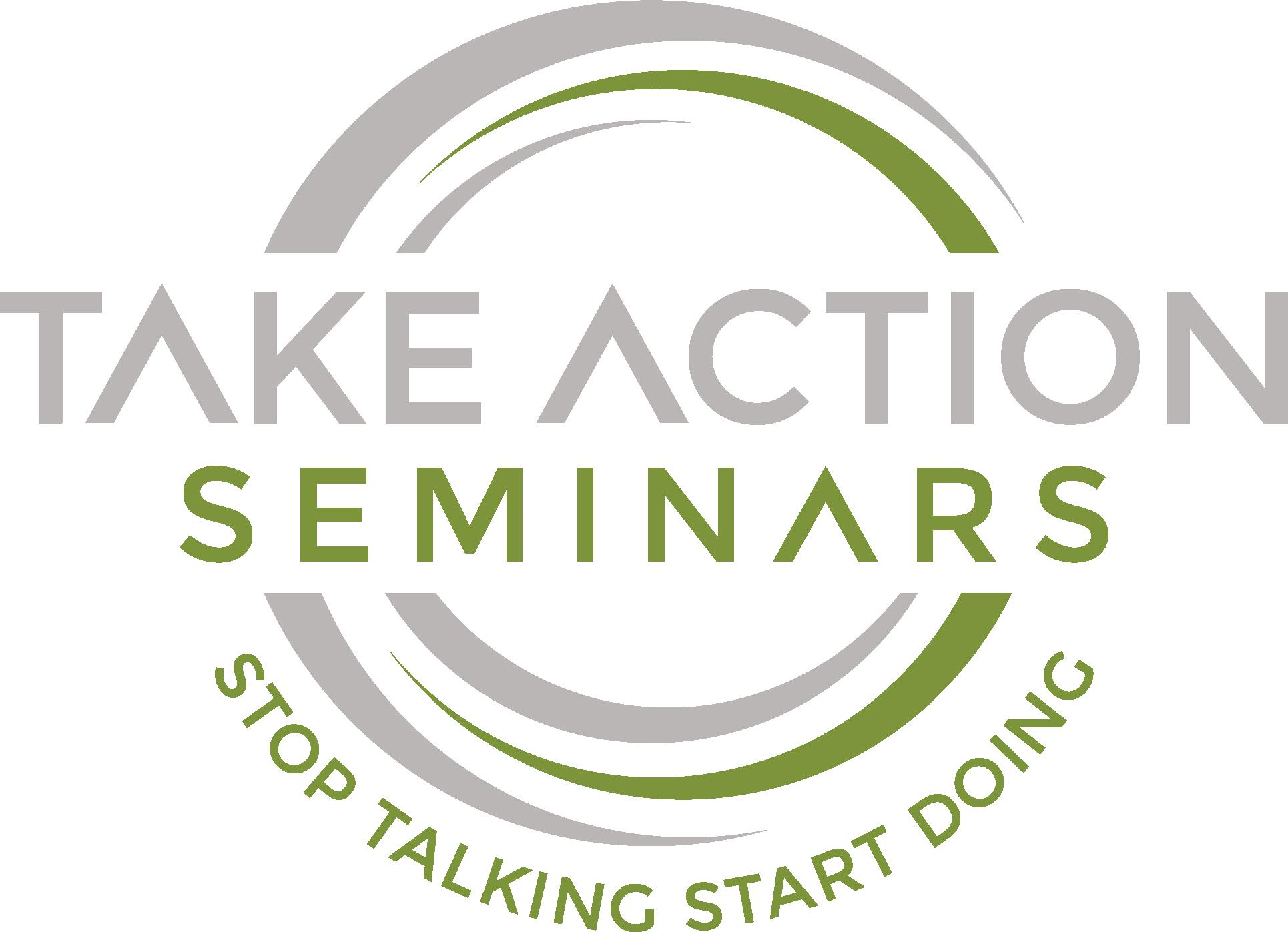 Take Action Seminar Logo Design