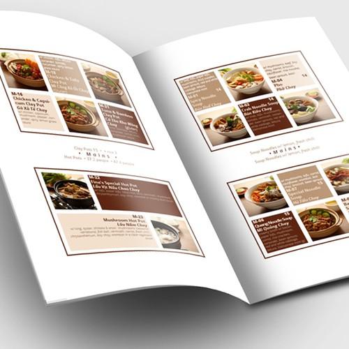 Menu Concept for Fina's Restaurant