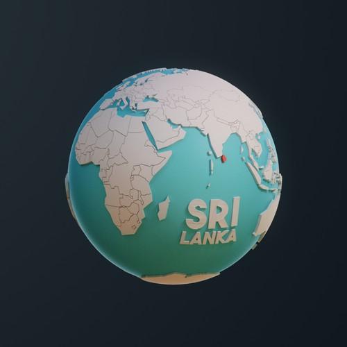 Low Poly Globe (3D)