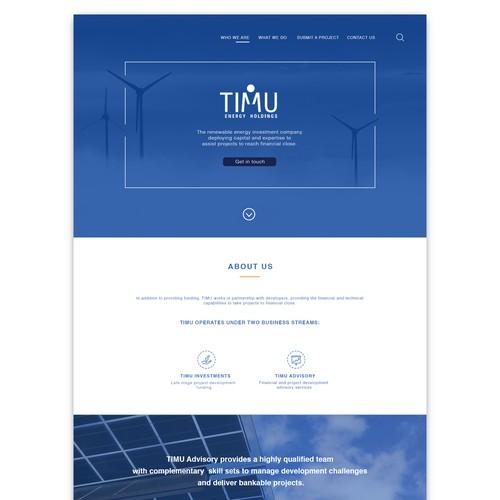 TIMU Website Design