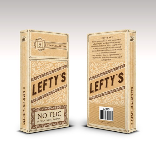 Packaging for Hemp Cigaretes company