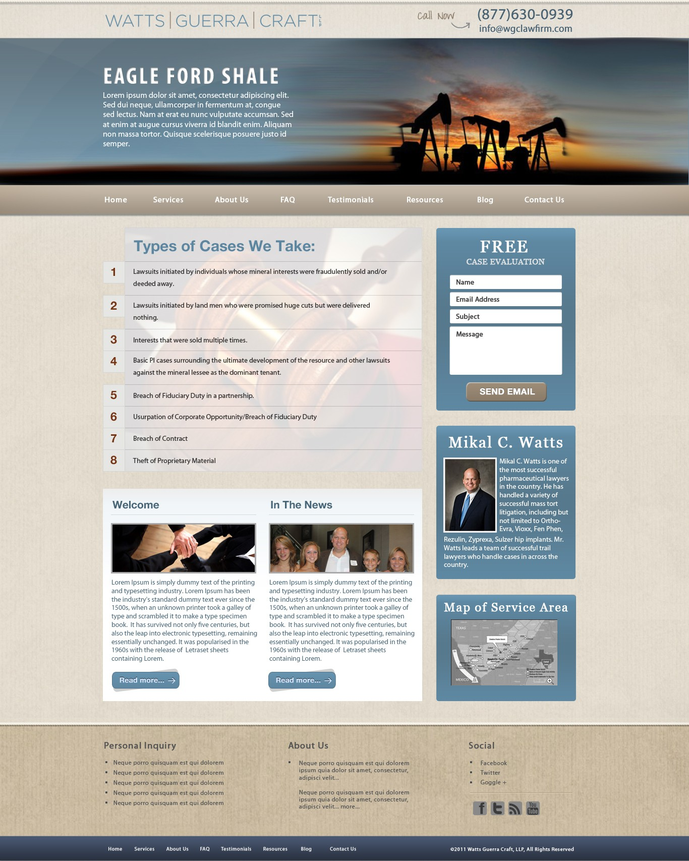 New website design wanted for An Elite Law Firm