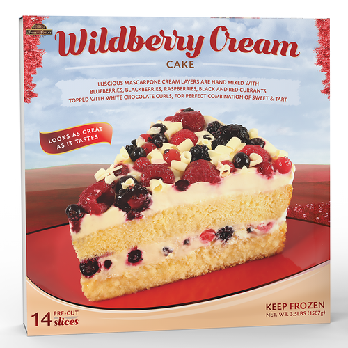 Wrap design for Wildberry Cream Cake by Sweet Sofia's Bakery (USA)