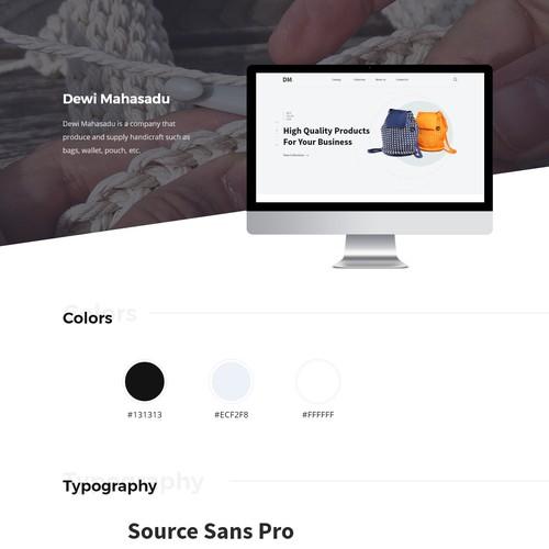 Handcraft Product Manufacturer Website