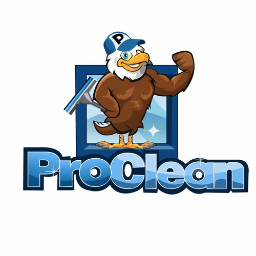 Fun logo for window cleaning company