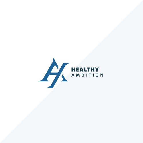 Modern Logo for Online Fitness Brand : Healthy Ambition