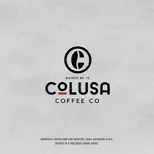 Industrial coffee house logo design