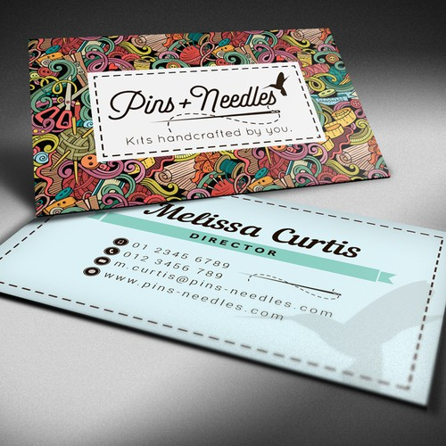 Business card design for Pins Needles