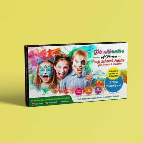 Kinderschminkset für Veranstaltungen aller Art Geburtstag, Halloween, Fußball etc.