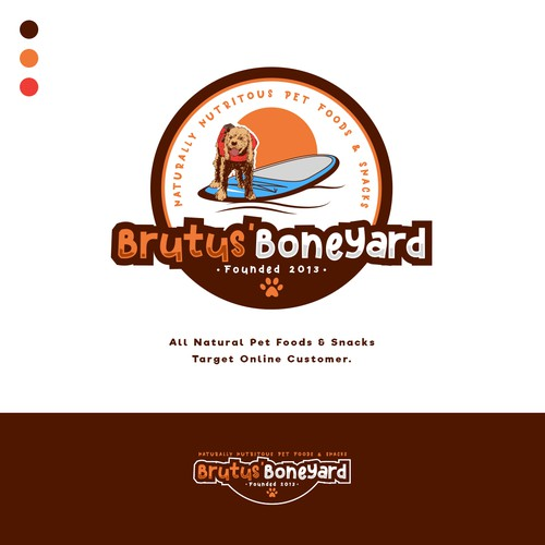 Dog Food Brand Logo for Brutus' Boneyard