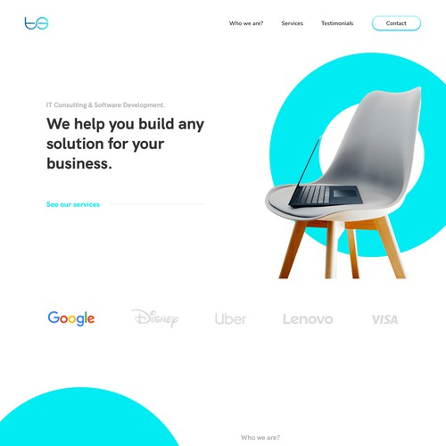 Modern Web Design for a Tech Company