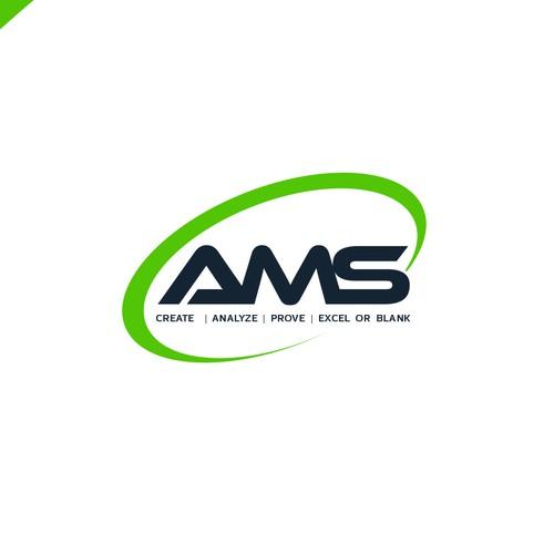 Abstract logo design for AMS