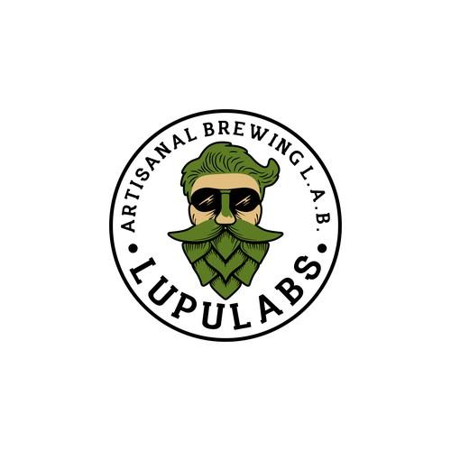 illustration graphic logo brewing laboratorium