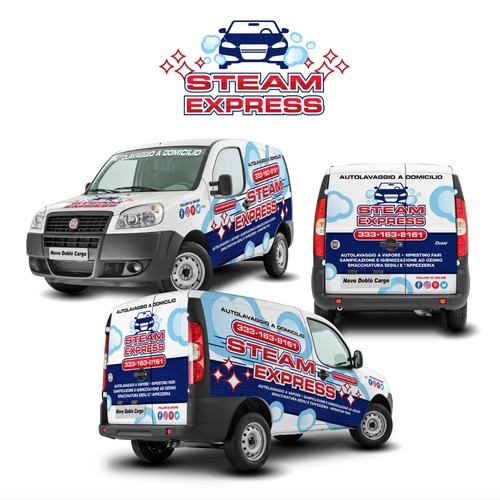 Car Wrap Design for Steam Express