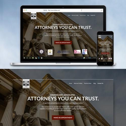 Clean legal landing page