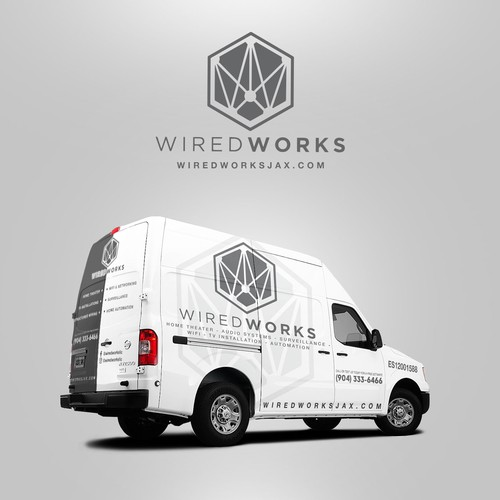Car Wrap design for Wired Works