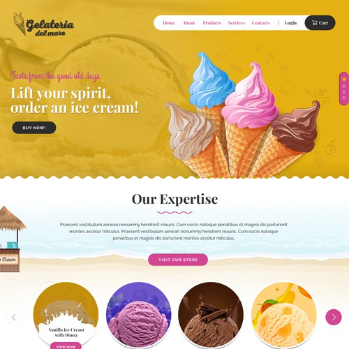 """Gelato for All"" website"