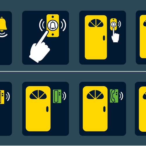Icons to help the hearing impaired and elderly
