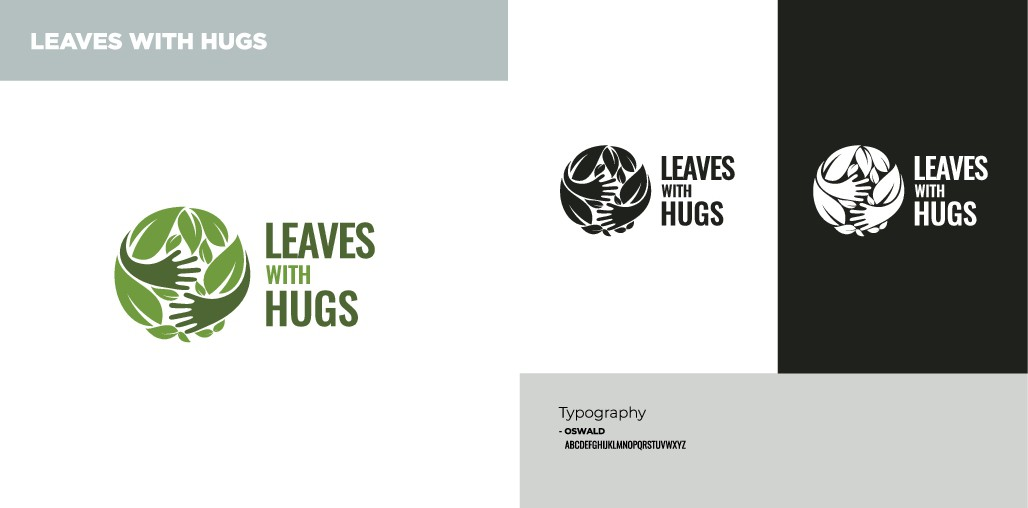 Design a logo with bus. card for Leaves with hugs. Tea and ceremonies