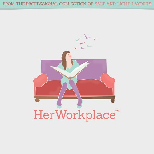 Design a logo for HerWorkplace that creates a sense of community