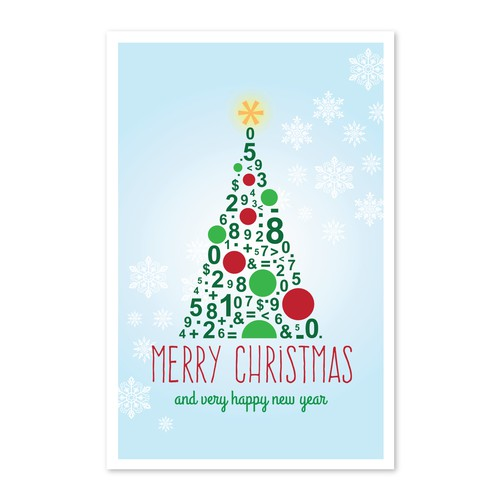Tax and accounting greeting card