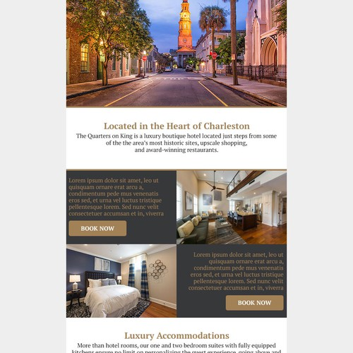 HTML email template, newsletter