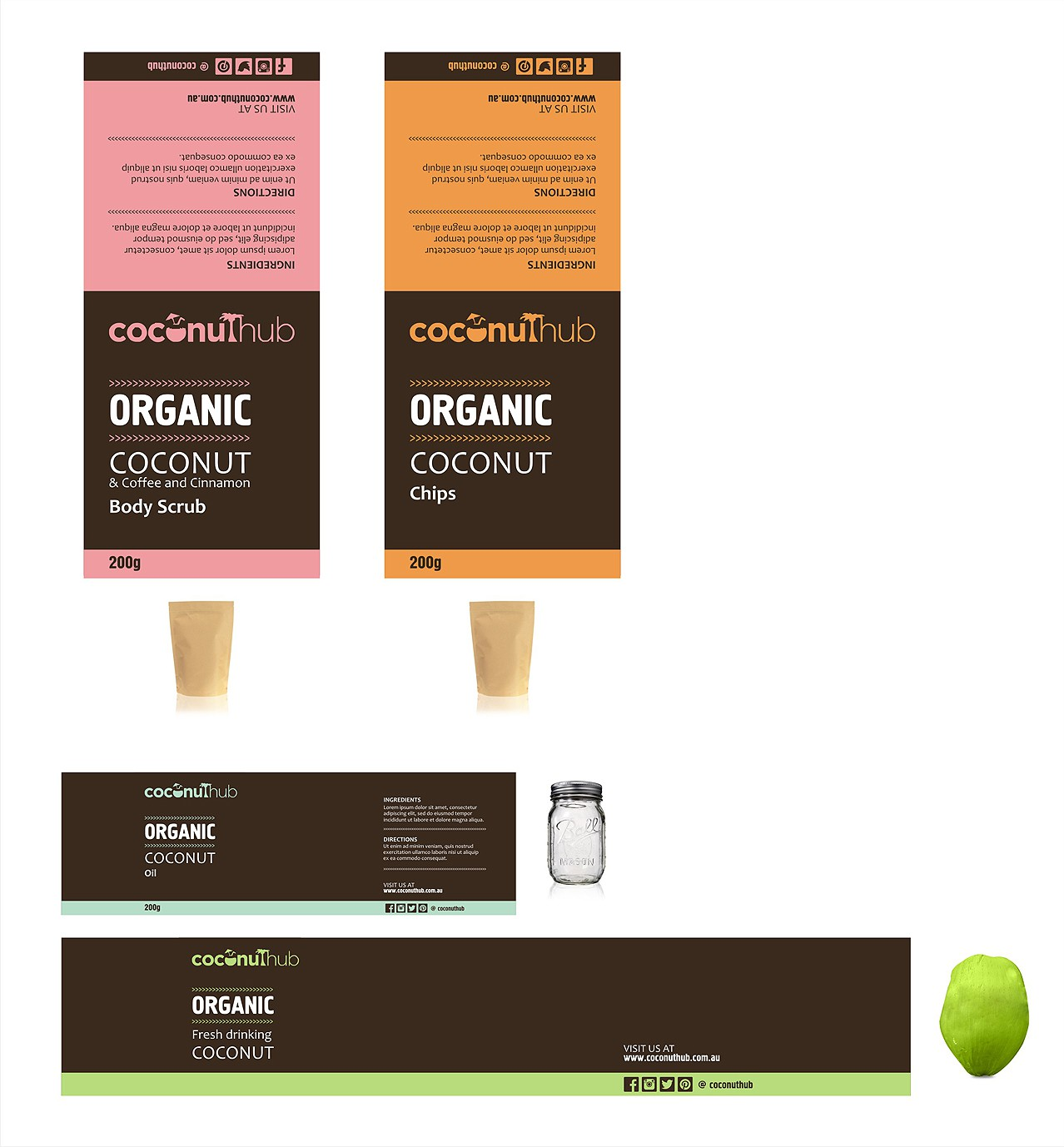 Organic packaging design with strong holistic natural health cues