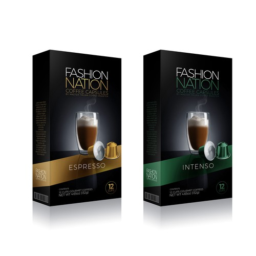 Fashon Nation Coffee Package Design