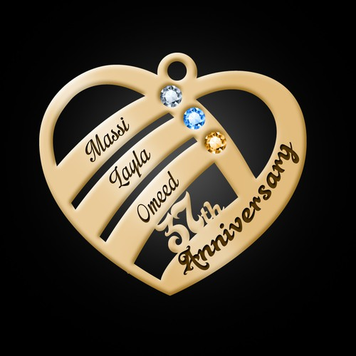 Wedding Anniversary Necklace Design