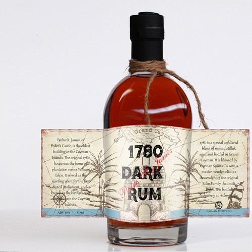 Dark Rum Label Contest Winner