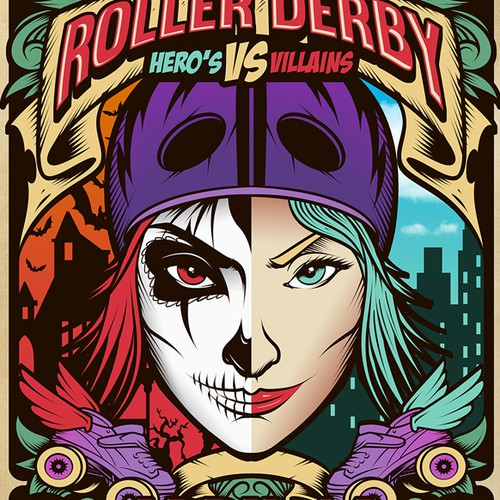 Poster for Cherry City Roller Derby