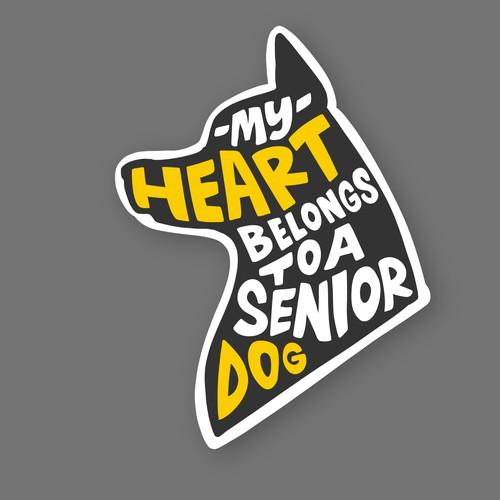 MY HEART BELONGS TO A SENIOR DOG