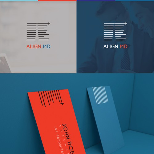 Logo concept for Align MD consultancy.
