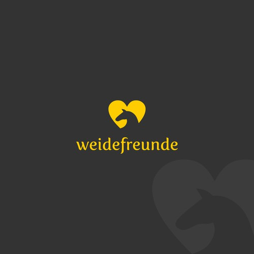 Lovely logo for horse tent company: Weidefreunde