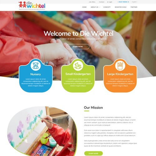 Web Page for Kindergarten