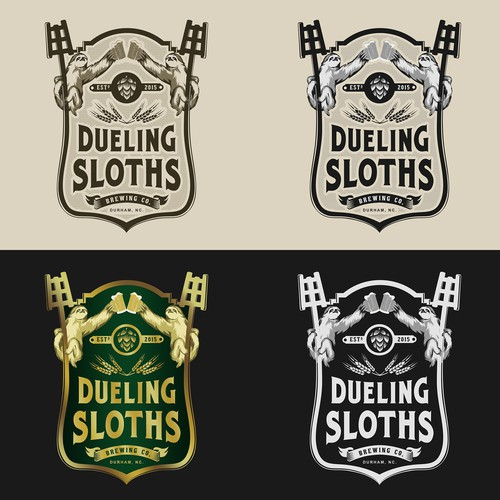 Design a logo for Dueling Sloths Brewing Company!