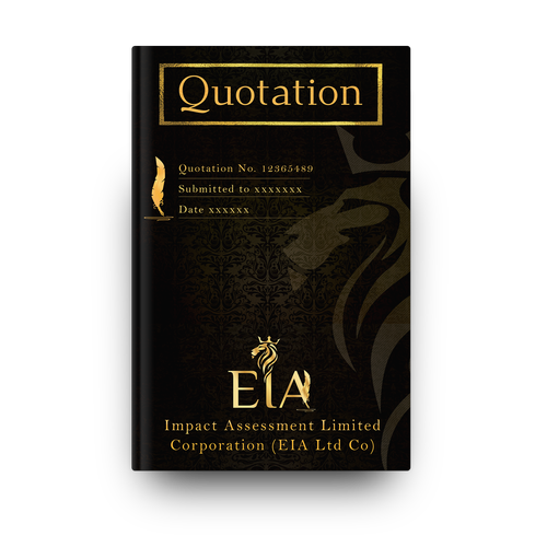 Luxurious Quotation Cover page for Consulting Firm
