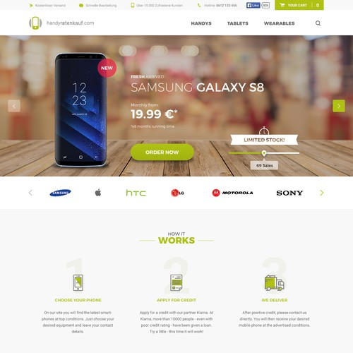 Web Design for a Smartphone Store