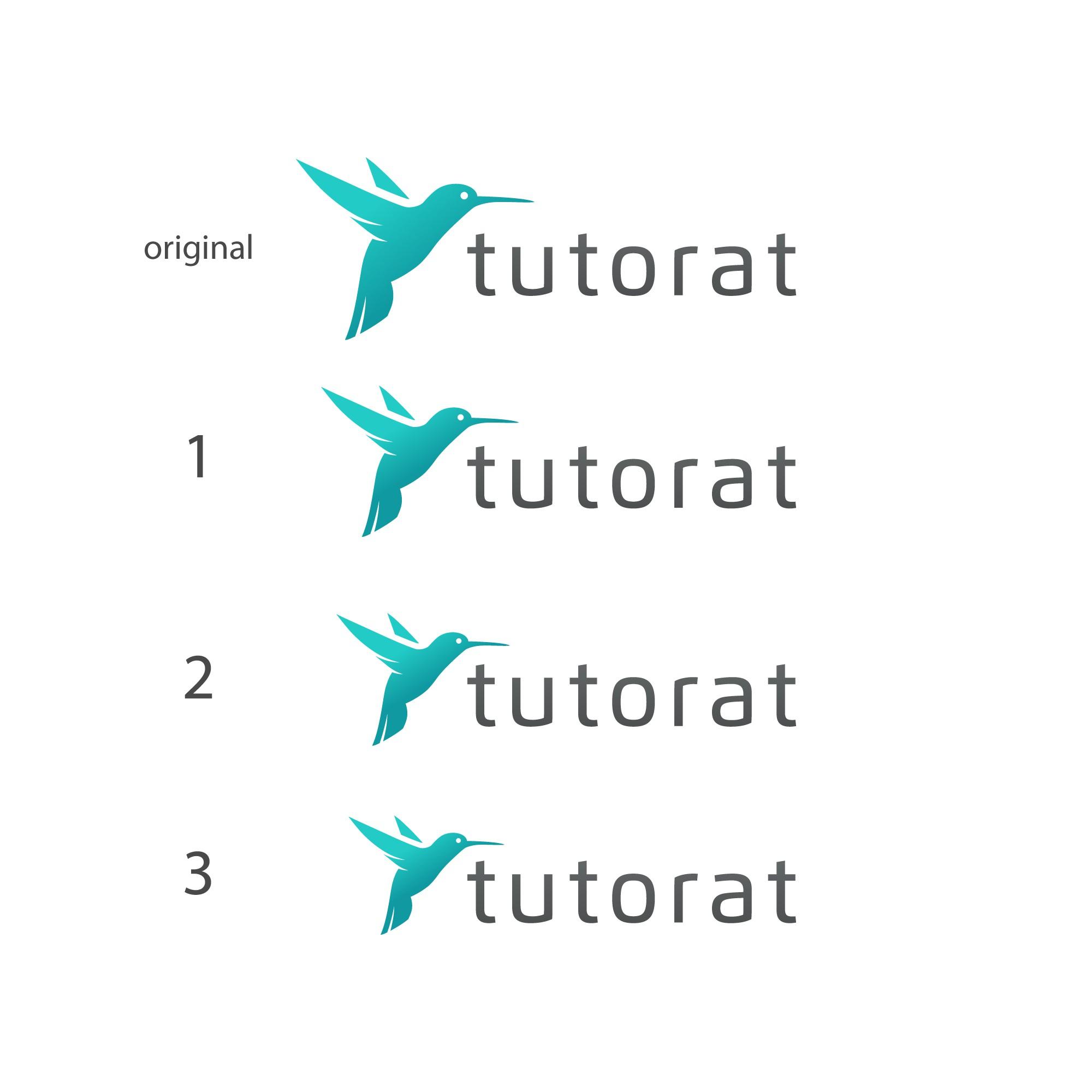 Create a bird logo for a tutoring company