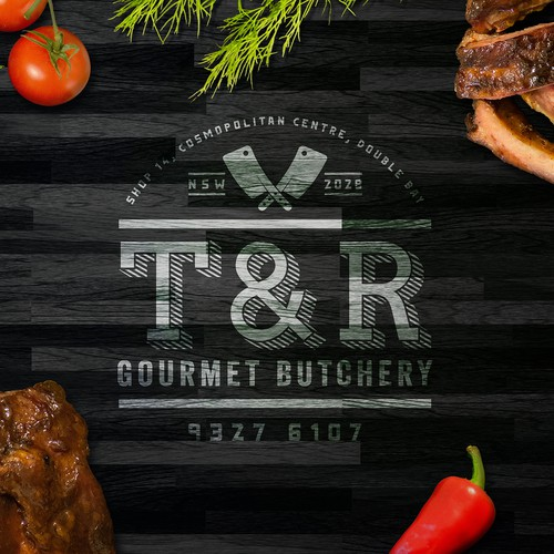 A Appealing & Luxurious logo for a high-end butchery.