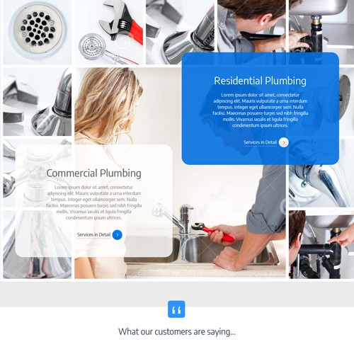 Homepage for plumber